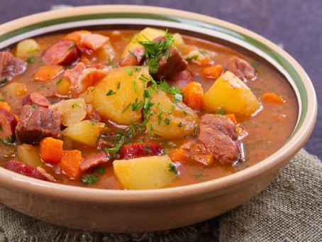 Sopa de Carne de Res y Salchicha