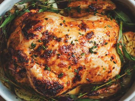 Pollo Rostizado con Salsa Blanca