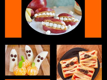 4 Bocadillos Divertidos y Saludables para Halloween Boca Full de Dientes