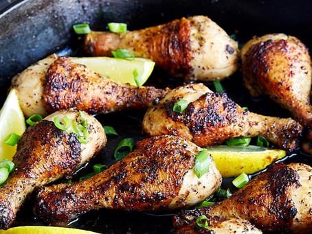 Muslos de Pollo a la Pimienta y Limón Amarillo