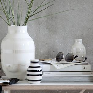 Vasen schwar/weiß