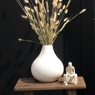 Ekenäs Vase und Kähler Character Skulptu