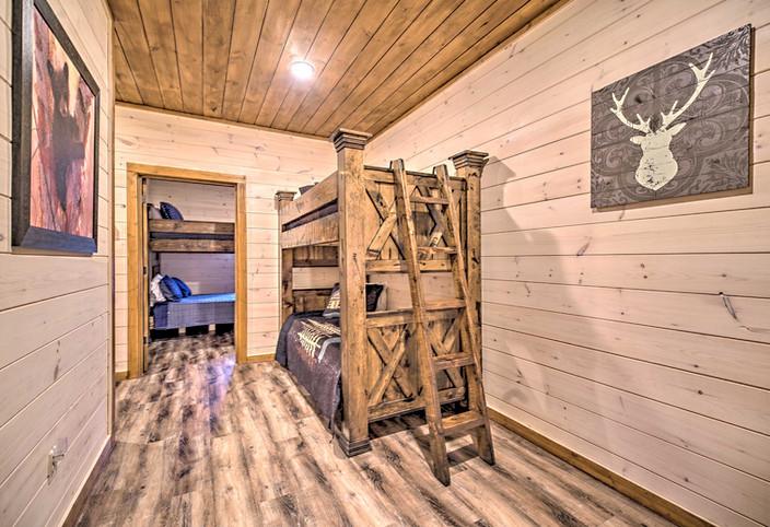 Twin bunk beds located in hallway 2nd floor