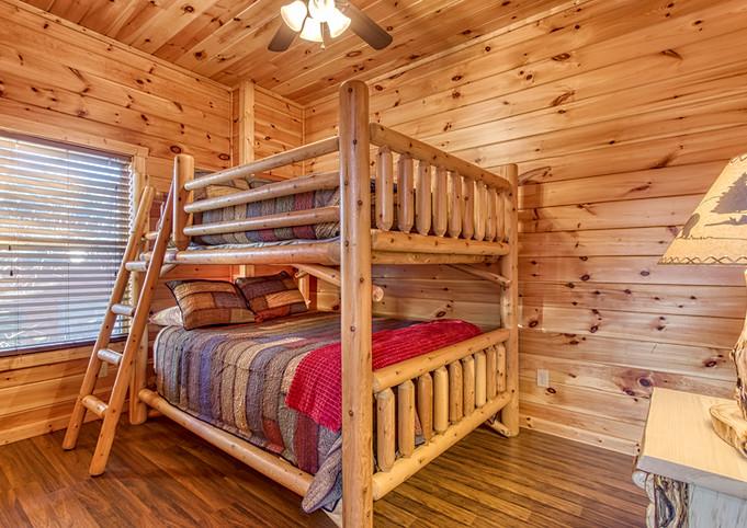 Lower Level Bedroom 2 Queen Over Queen Bunk Beds