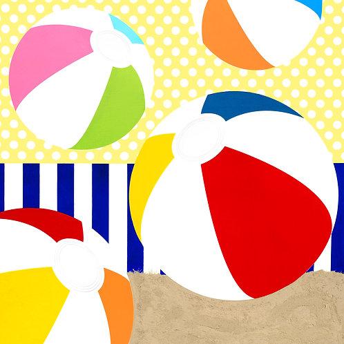 Four Beach Balls