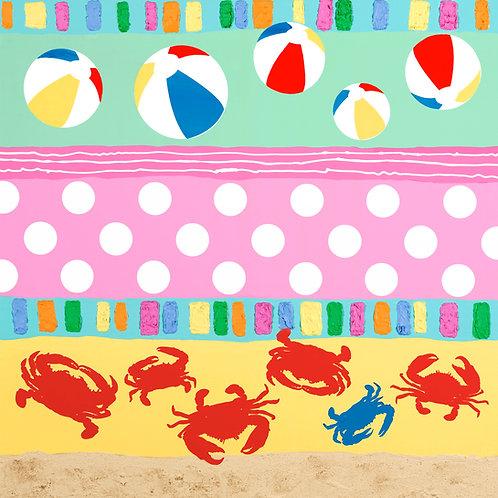 Beach Hieroglyphs with Crabs