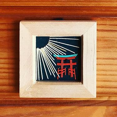 水引の飾り額[厳島神社]
