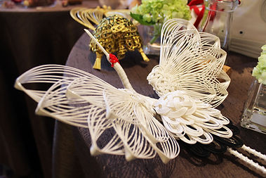 伊予の伝統工芸士作品(鶴と亀)