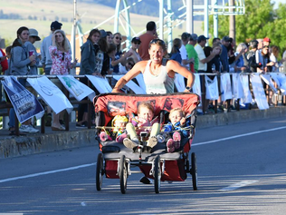 Woman Shatters Triple-Stroller Pushing Record in Half Marathon