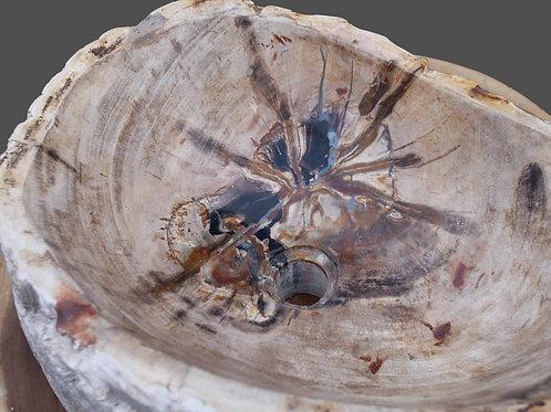 Steinwaschbecken versteinertes Holz F03A