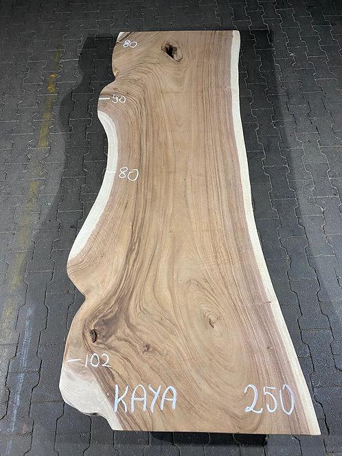 Baumstamm-Tisch Kaya von oben