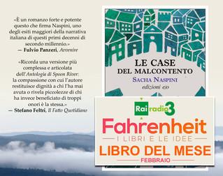 """""""LE CASE DEL MALCONTENTO"""" LIBRO DEL MESE DI FAHRENHEIT-RADIO TRE"""