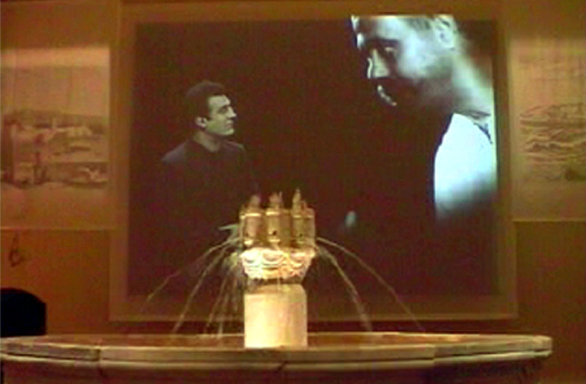 The movie projected in the main hall