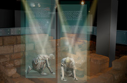 Video projection on glass partitions