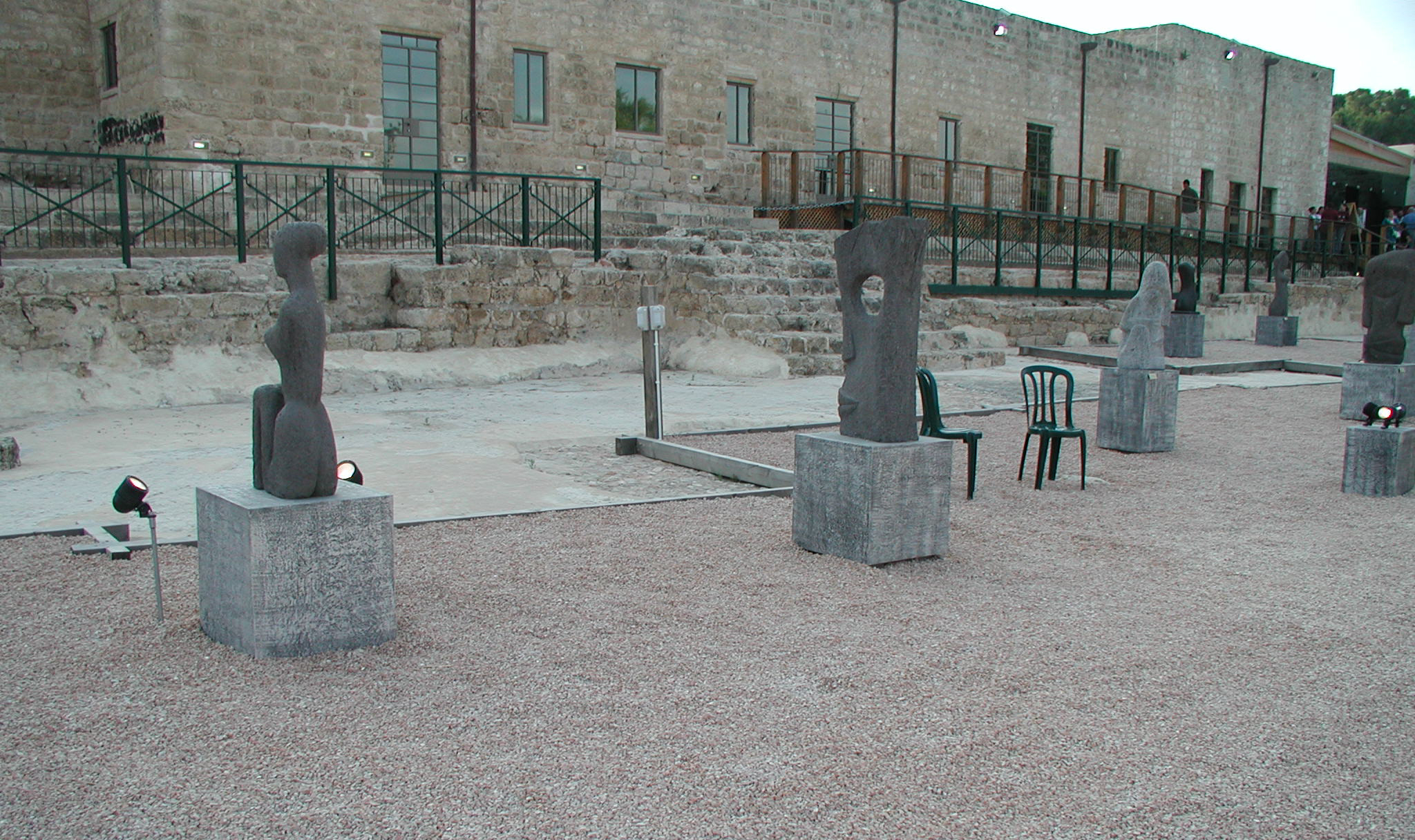 The sculptures courtyard