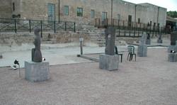 The sculptures courtyard