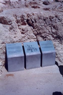 Silk screen printed glass signs