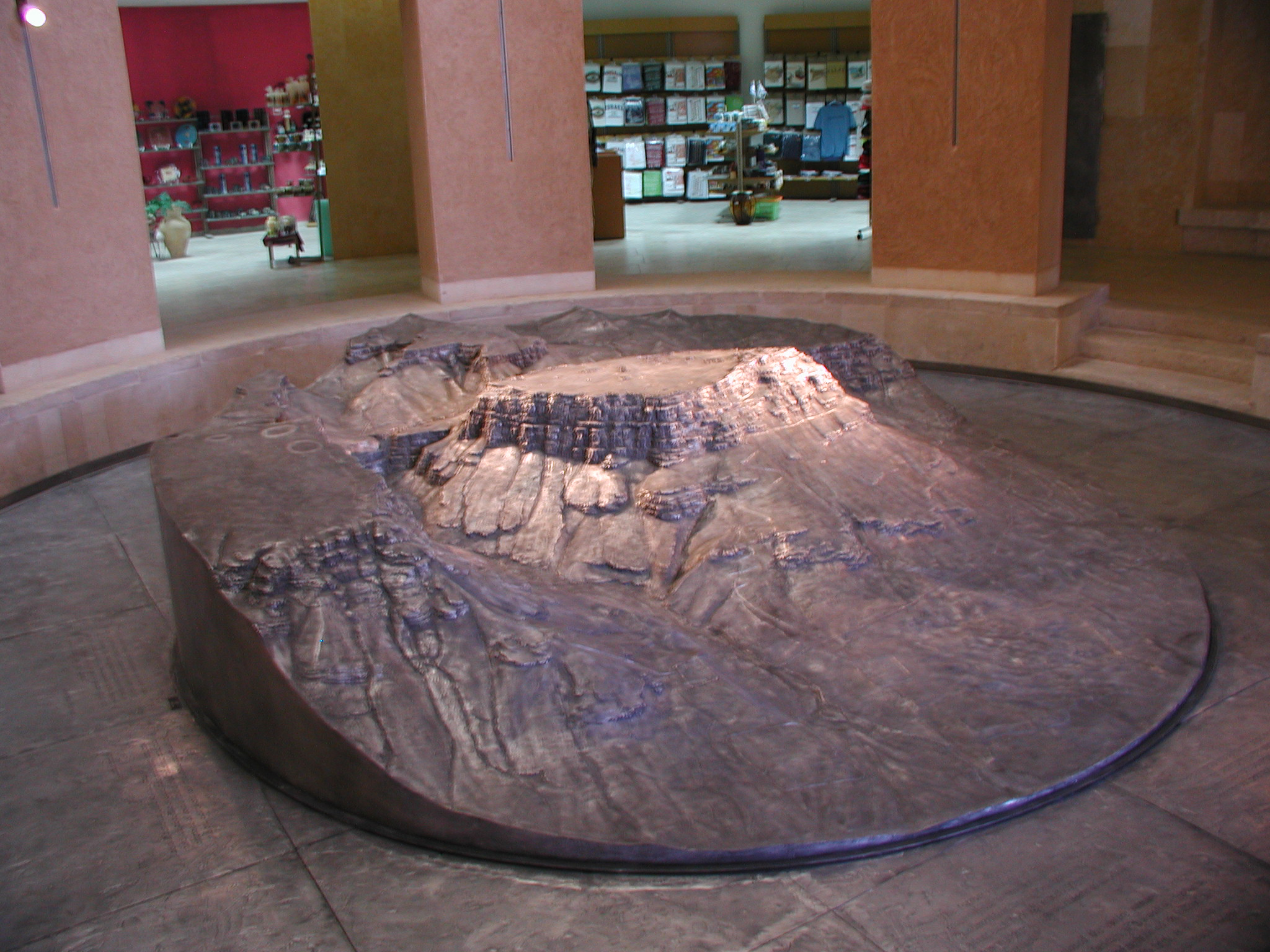 Aluminum cast model of Masada