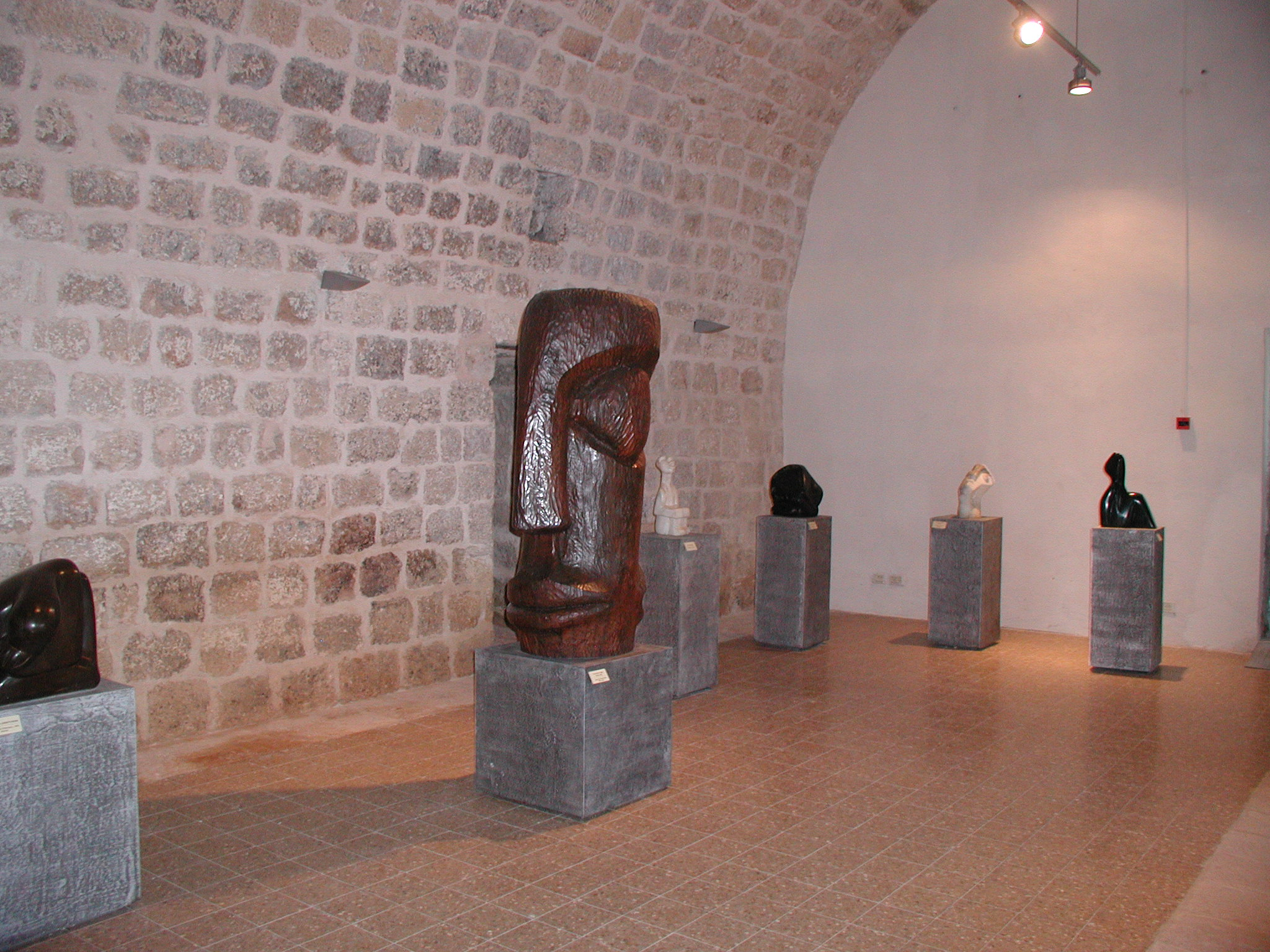 Sculpture inside the exhibition hall