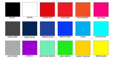 Liquid Skinz Color Chart