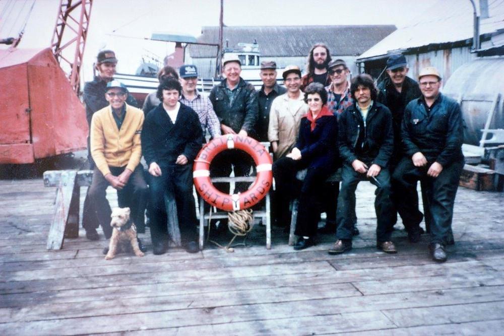Doris and the last Britannia Crew, circa 1979, courtesy of the City of Richmond Archives.