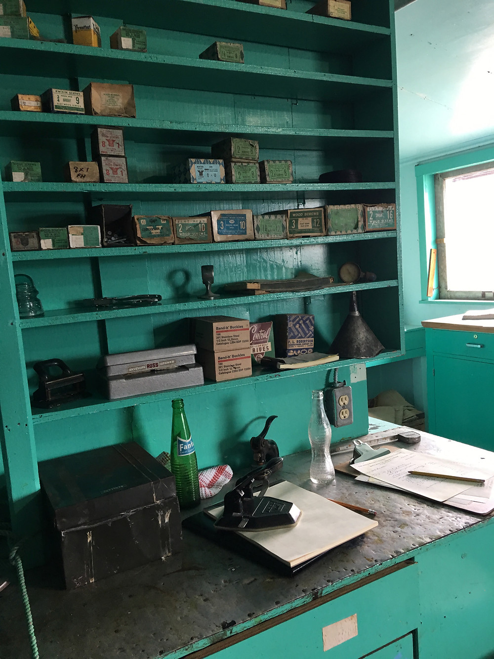Photo of interior of the office at Britannia Shipyards National Historic Site by Lori Sherritt-Fleming