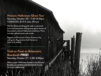 Did You See A Ghost? Don't Miss The Spook-tacular Ghost Walk at Britannia Shipyards National His