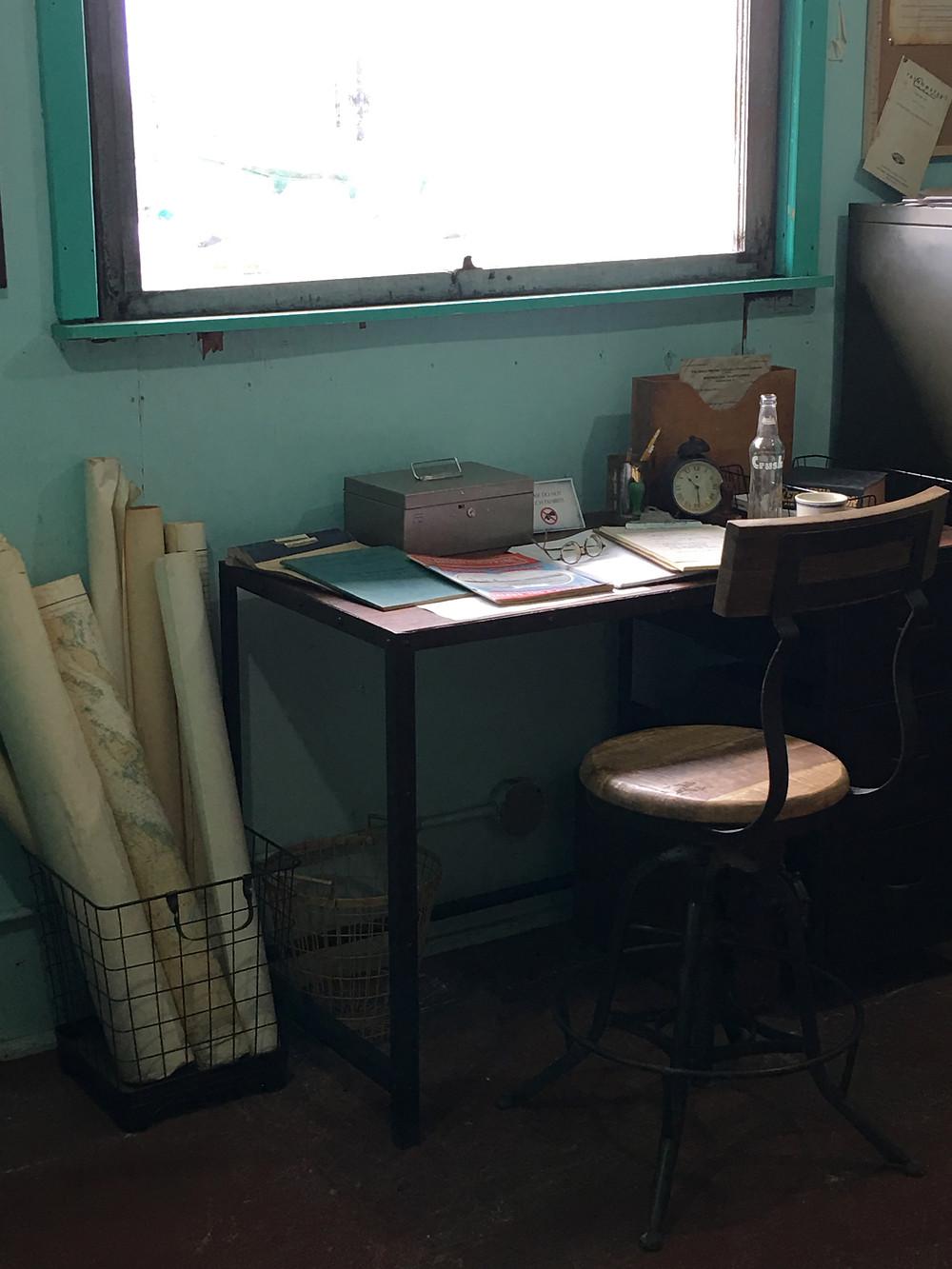 Photo of the office desk Britannia Shipyards National Historic Site by Lori Sherritt-Fleming