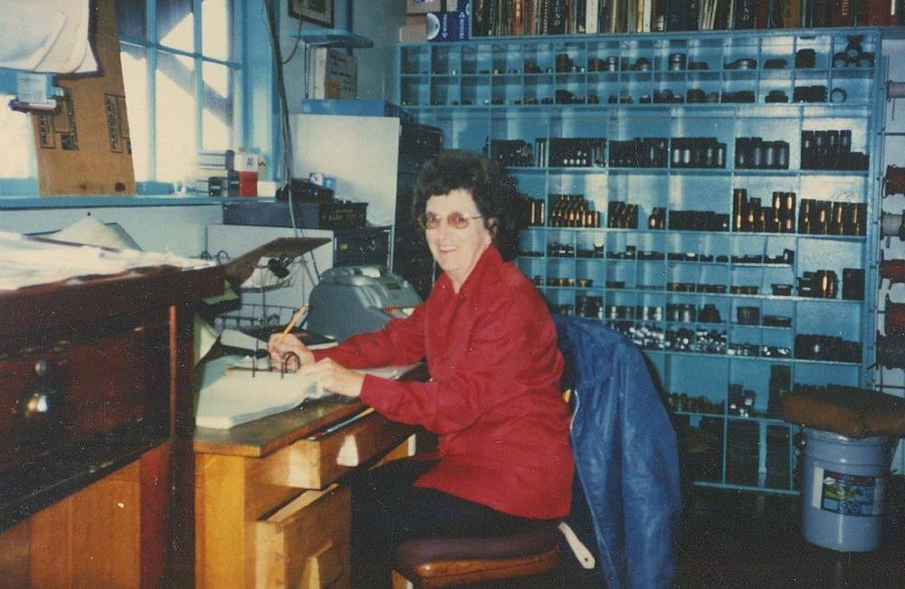 Doris Forsyth at work, circa 1979, courtesy of the City of Richmond Archives.