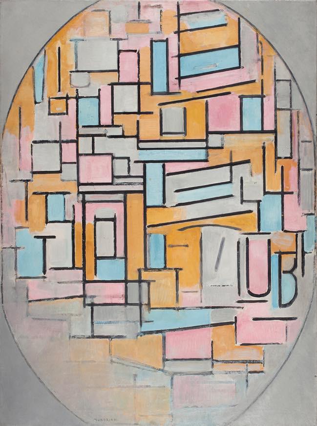 ピート・モンドリアン 《色面の楕円コンポジション 2 》 1914年 油彩、カンヴァス デン・ハーグ美術館 Kunstmuseum Den Haag