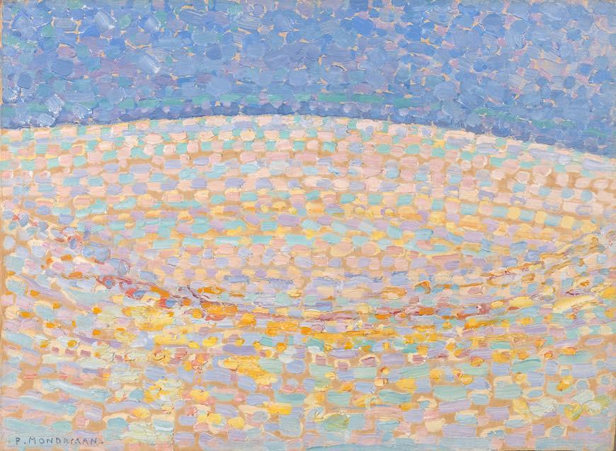 ピート・モンドリアン 《砂丘Ⅲ》 1909年 油彩、厚紙 デン・ハーグ美術館 Kunstmuseum Den Haag
