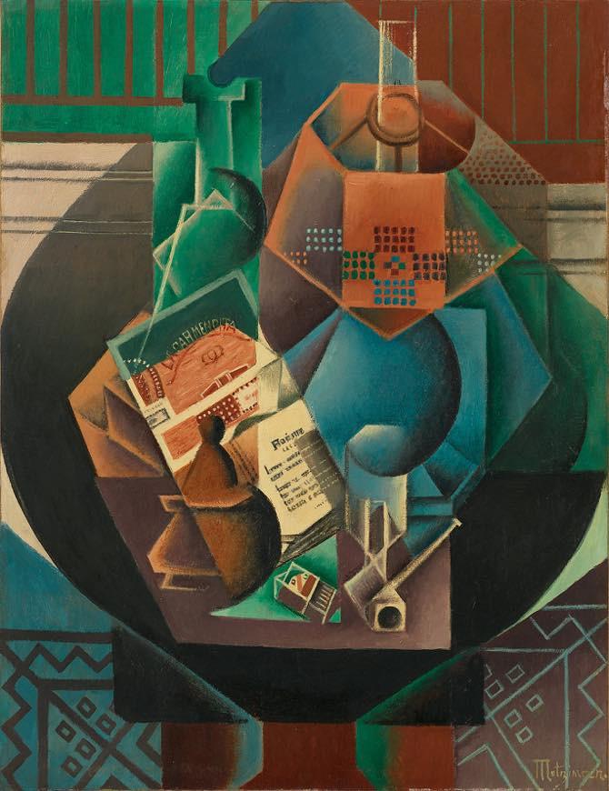 ジャン・メッツァンジェ《円卓の上の静物》1916 年