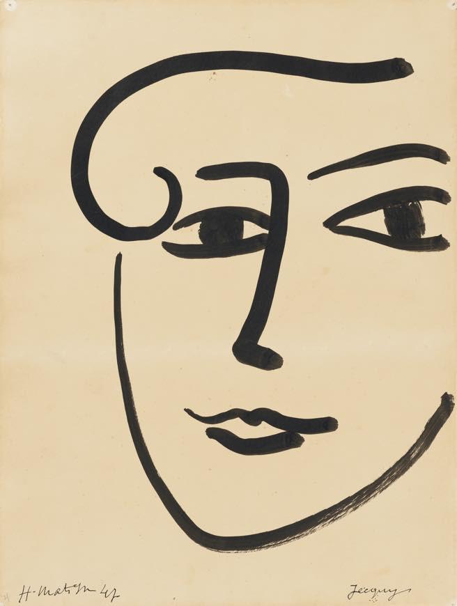 アンリ・マティス《ジャッキー》1947 年
