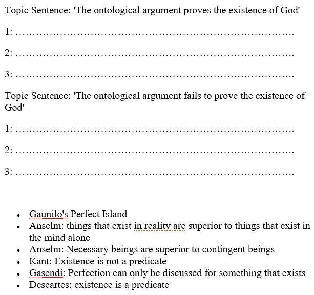 strengths of ontological argument