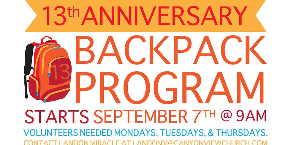 Backpack Program Volunteer Opportunity