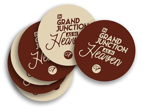 In Grand Junction as in Heaven Sticker
