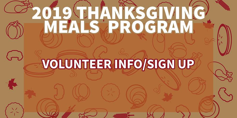 Thanksgiving Volunteering Opportunities