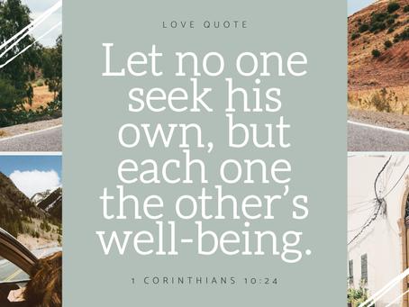 1 Corinthians 10:24
