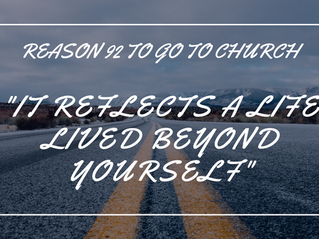 Reason #92 To Go To Church