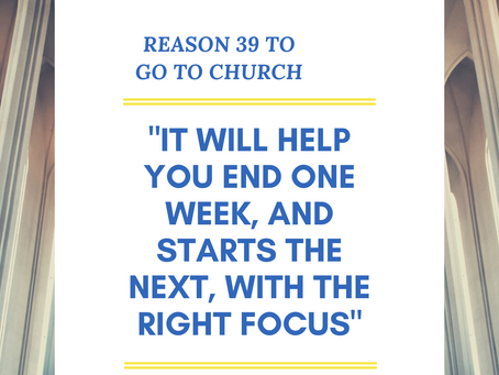 Reason #39 To Go To Church