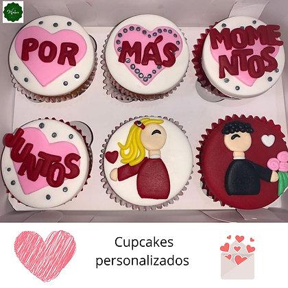Cupcakes de Novios frutos rojos (6 Un)