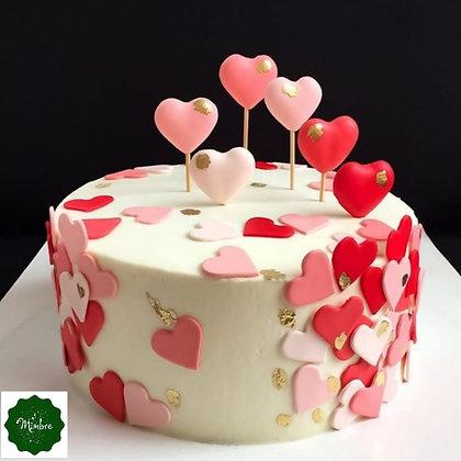Torta llena de corazones (10 porciones)