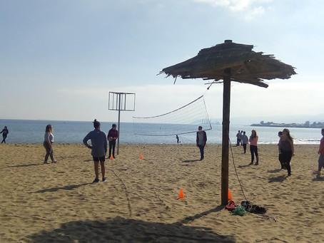 Día de la actividad física en la playa de Penco.