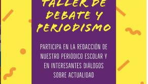 Inicia Taller de debate y periodismo y de Inglés para nuestros estudiantes
