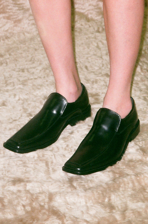 Uncle Shoes(Square-Toe Loafers)