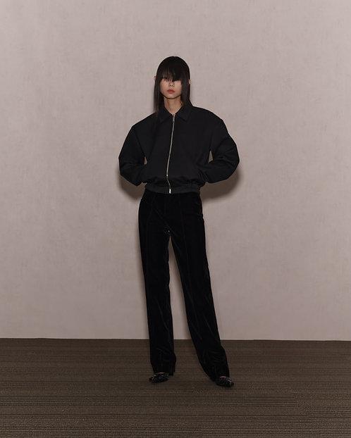 Black Spread Collar Jacket