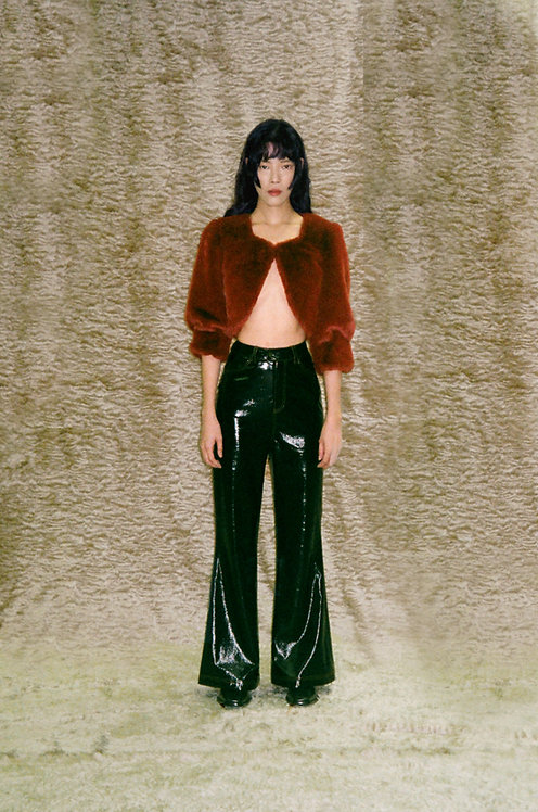 Faux Leather Flared Pants