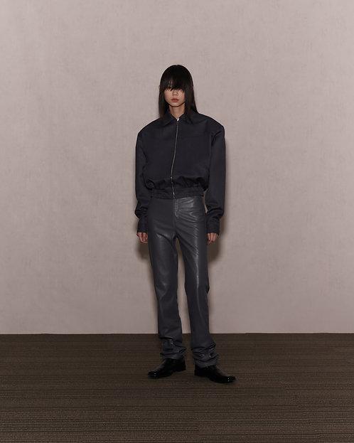 Grey Spread Collar Jacket