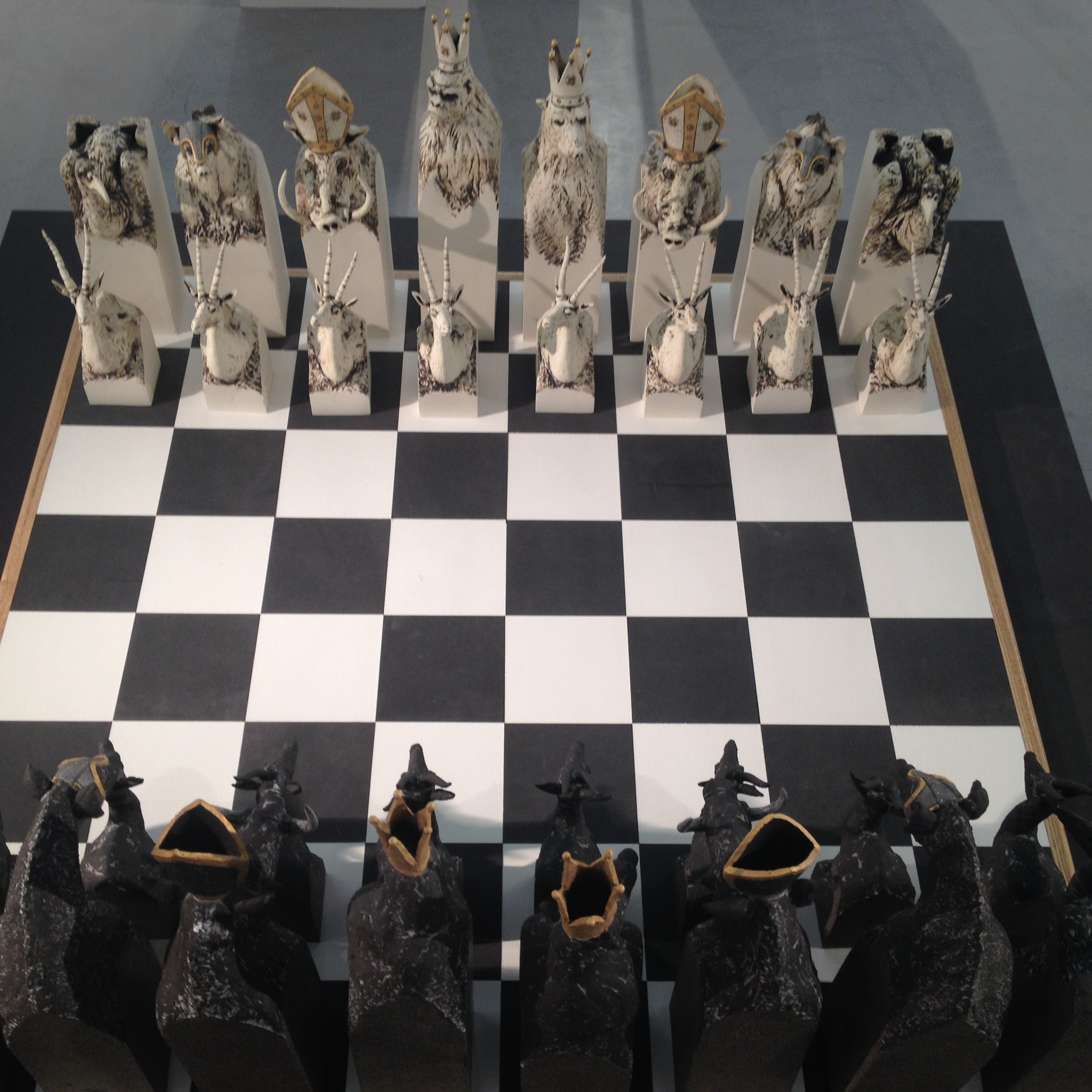 Rob Parr Ceramics Chess set