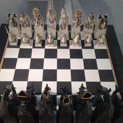 Rob Parr Ceramics Chess set